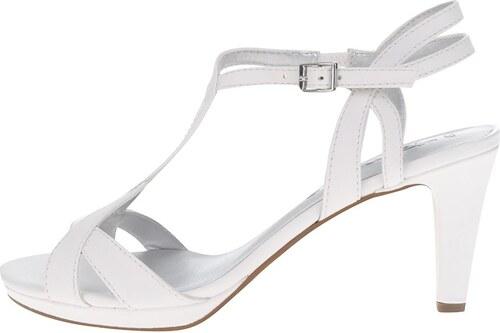 Bílé páskové sandálky na podpatku Tamaris - Glami.cz ee1a259c3b