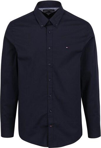 53d4b0fb44aa Tmavě modrá pánská formální slim fit košile Tommy Hilfiger - Glami.cz