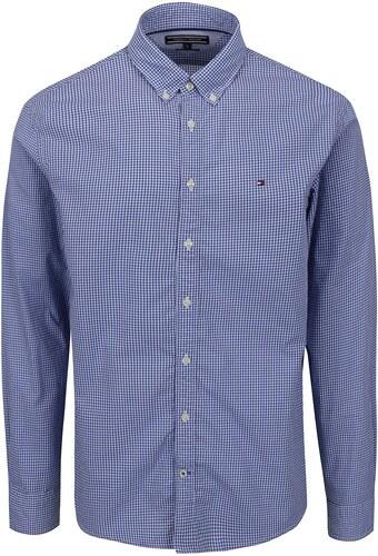 2aa1512d6b19 Modro-biela pánska kockovaná košeľa Tommy Hilfiger - Glami.sk