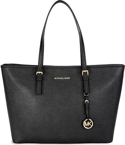 Michael Kors Elegantní kožená kabelka Large Saffiano Leather Never Full  Tote černá 70b70867657