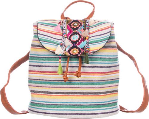 Fashion Icon Batoh ETNO textilní A4 Backpack - Glami.cz 926a012a197