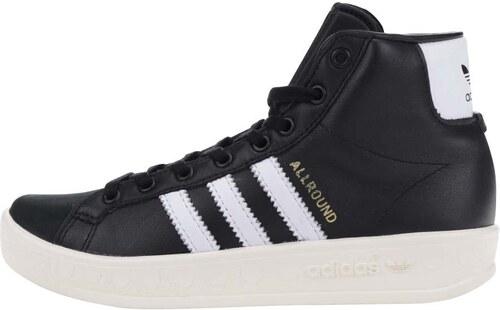 5ea9af90ee8 Černé dámské kožené kotníkové tenisky adidas Originals AllRound ...