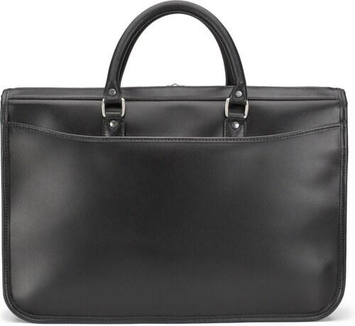 Kožená taška Marston od Tusting - černá - Glami.cz 78f7d26f0a