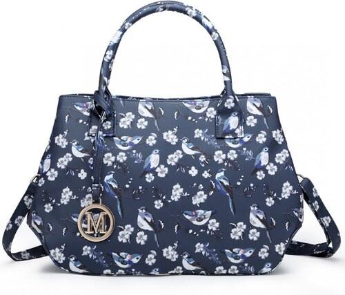 Lulu Bags (Anglie) Nadčasová modrá kabelka s ptáčky Miss Lulu - Glami.cz 21e64b49139