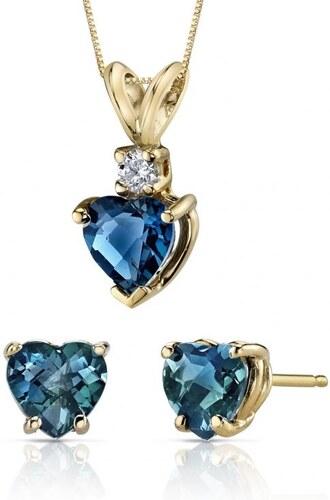 d50f8c156 Eppi Zlatá kolekcia šperkov s londýnskymi topásmi a diamantom Otameia