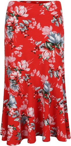f5f179d6315c Červená kvetovaná sukňa M Co - Glami.sk