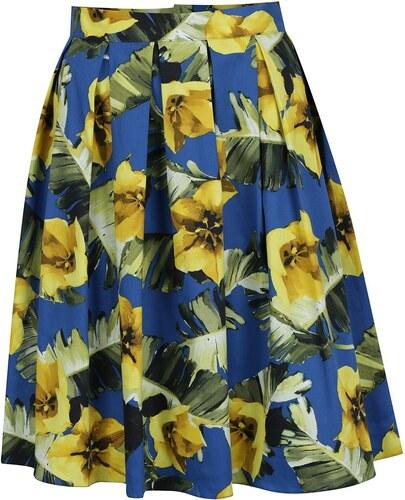 4a52e8f32d00 Modrá skládaná květovaná sukně Dorothy Perkins - Glami.cz