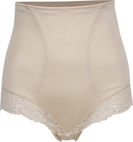 Béžové krajkové stahovací kalhotky s vysokým pasem M Co - Glami.cz c8dd51e09b