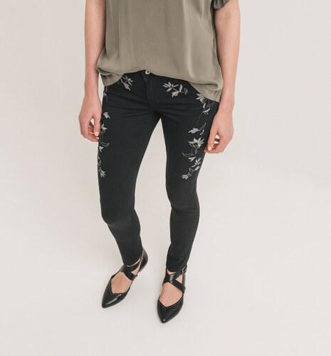 Promod Skinny kalhoty s výšivkou - Glami.cz 1d6ff98cc0
