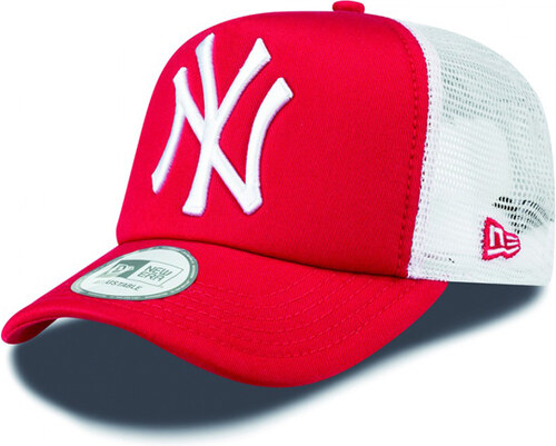 Sapka New Era 9Forty Trucker Clean T NY Scarlet White Cap - Méret UNI d3013558e2
