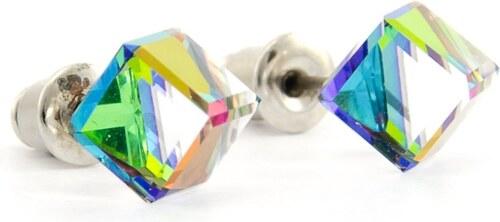 -45% FaBOS Náušnice kostička swarovski elements měnivé (fialová d858f64f32a