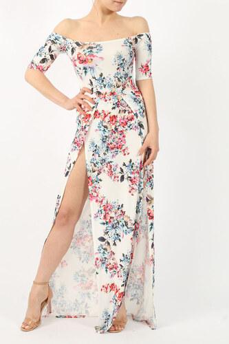 Missi London Dlouhé maxi šaty Bardot květinové - Glami.cz 428cf37eab