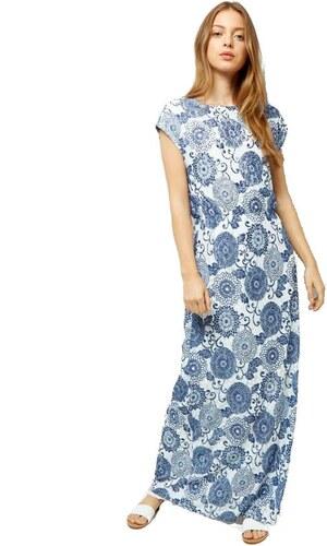 NEW LOOK Modré maxi šaty s krátkým rukávem - Glami.cz 1ead34bc072