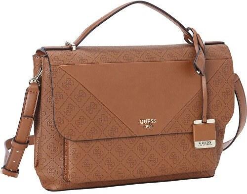 Guess Dámská kabelka GUESS Cammie Top Handle Flap Crossbody brown ... b5bd15206dd