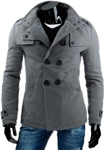 bez výrobcu Pánsky šedý kabát - Glami.sk 7ddadeaa1eb