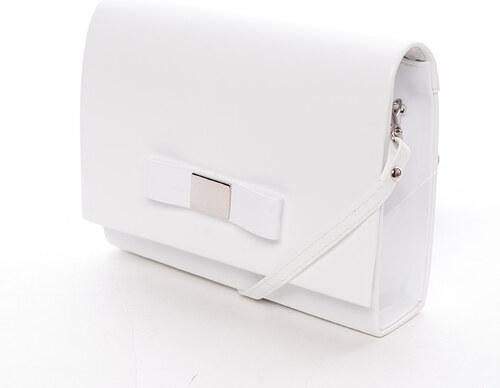 6ecccb02ea Luxusné dámske listová kabelka biela lesklá - Delami Chicago Fresno biela