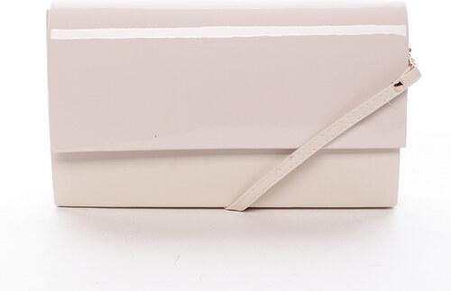 74886ef9f7 Štýlová dámska listová kabelka béžová matná - Delami Boston béžová ...