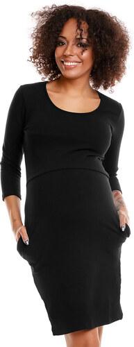 Peekaboo Čierne púzdrové úpletové šaty PKB1445 - Glami.sk d27430a95af