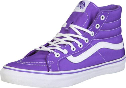 fd13d838898 Dámské tenisky VANS kotníkové plátěné - fialové barva  fialová ...