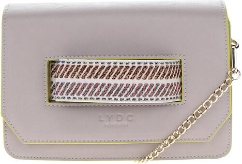 0293c3b1c7 Sivá crossbody kabelka listová kabelka s prešívaným uchom LYDC ...