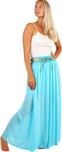 57546536fe9 YooY Dámská romantická maxi sukně s kapsami (světle modrá