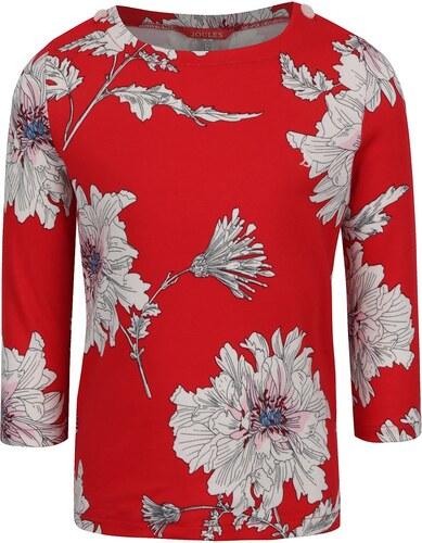 3036d6d3044c Červené kvetované dievčenské tričko s dlhým rukávom Tom Joule - Glami.sk