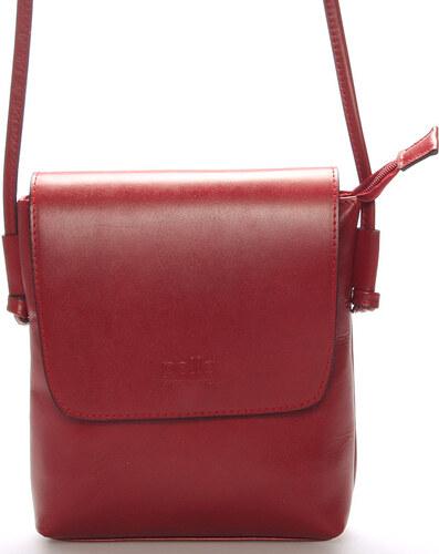 Dámska kožená crossbody kabelka červená - ItalY Tamia červená - Glami.sk 6e42bb54f47