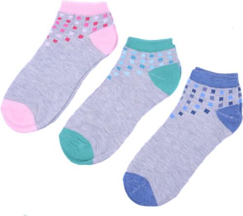 UK Looken Dámské kotníkové ponožky Mix barev 3 páry 35-38 - Glami.cz e57d6d0fdb