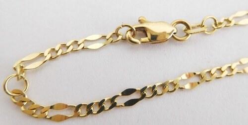 5a2b6f3f5 Pretis Zlatý náramek / řetízek na nohu v délce 25cm, šířka 2,5mm 585 ...