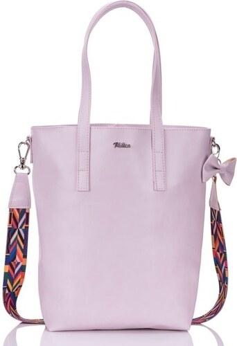 FELICE Ružová kabelka MILTON - ML02 LIGHT PINK odtiene farieb  ružová 5ea03ac503d