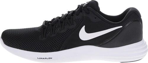 Bílo-černé pánské perforované tenisky Nike Lunar Apparent - Glami.cz 24c704e16b