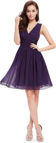 Ever Pretty letní šaty krátké tmavě fialové 3989 - Glami.cz 16c7fa6730