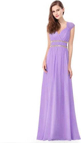 Ever Pretty šaty dlouhé elegantní světle fialové 8697 - Glami.cz 75ba52a74de