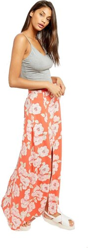 507649f93eb NEW LOOK Krásna červená floral sukňa - Glami.sk