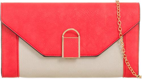 ikabelky Dvojfarebná listová kabelka K-T823 červená - Glami.sk 00c77f258e5