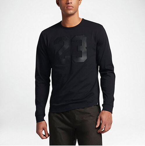 Pánske tričko AIR JORDAN JORDAN 6 LONG SLEEVE T-SHIRT BLACK BLACK ... cbcb4cbc66
