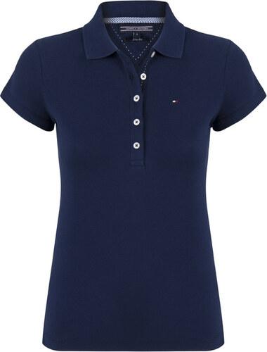 6d9e97ac7 Tmavě modré slim fit polo tričko Tommy Hilfiger - Glami.cz