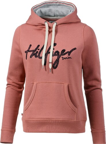 9560b88ea516 Tommy Hilfiger Hoodie Damen in withered rose - Glami.de