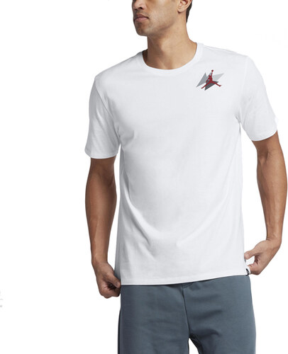 Pánské tričko Air Jordan Box T-shirt White Gym Red - Glami.cz 89d05997cef