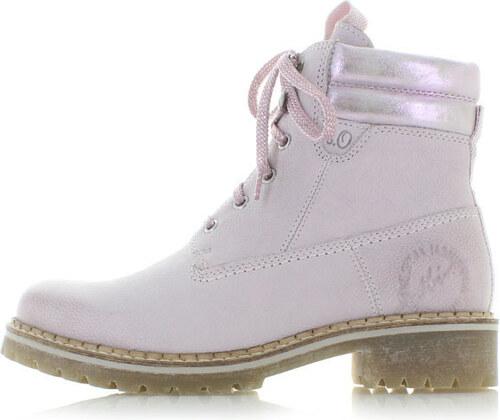 Světle růžové kožené kotníkové boty s.Oliver 25204 - Glami.cz 252c66b053