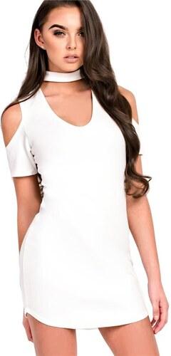 43590e077da6 IKRUSH Zariah Biele bodycon šaty v štýle studenej rameno - Glami.sk