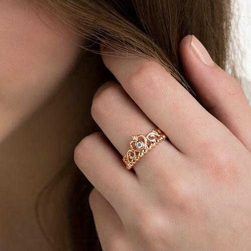 Pandora Bronzový prsten pro princezny 180880CZ - Glami.cz dca06aae7c6