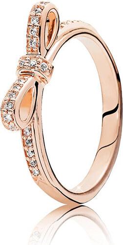 Pandora Bronzový prsten Třpytivá mašle 180906CZ - Glami.cz 7c76348d06b