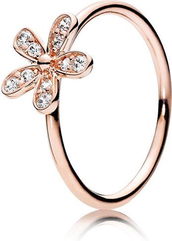 Pandora Bronzový prsten s třpytivou květinou 180932CZ - Glami.cz 8034073bd6f