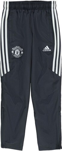 Adidas Manchester United Pre Match Tracksuit Bottoms Junior Boys Black White 5fa8ac72dc4