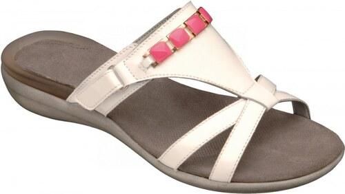 Scholl LYNN bílé   růžové zdravotní pantofle - Glami.cz 20b6c05f70