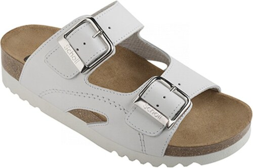 Scholl MOLDAVA WEDGE AD - bílé zdravotní pantofle - Glami.cz 64bb40d947