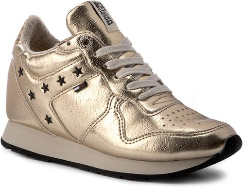 54d770160a80 Sneakersy TOMMY HILFIGER - DENIM Lady 3Z1 FW0FW01877 Antique Gold ...