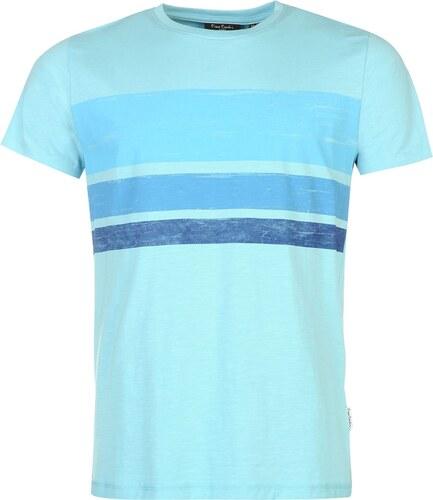 d8494dbded48 Triko Triko Pierre Cardin Slub Print T Shirt pánské Aqua Blue - Glami.sk