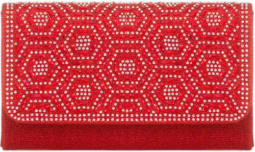 ikabelky Trblietavá listová kabelka K-TL862 červená - Glami.sk 32707dbfbdc